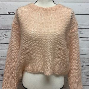 Easel Mohair Cropped Sweater